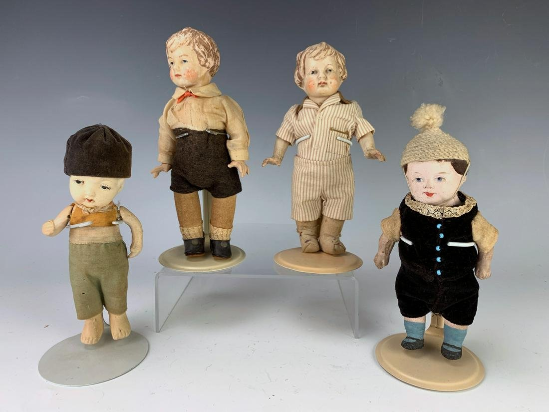 Group of 4 Antique Dolls