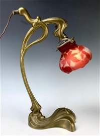 Galle Art Nouveau Desk Lamp C. 1900