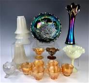 Group of Glassware Including Carnival