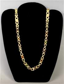 14K Gold Necklace with Diamonds