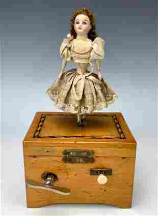 """""""Giselle"""" Musical Dancing Doll Automaton C. 1890"""