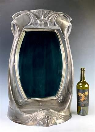 WMF Signed Art Nouveau Vanity Mirror C. 1890