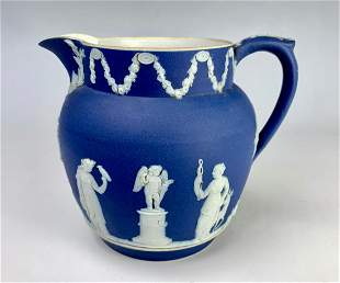 Wedgwood English Blue & White Pitcher
