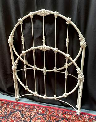 Victorian Cast Iron Ornate Single Bed