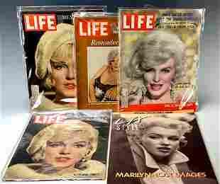 Early Marilyn Monroe Life Magazines 1959-1972