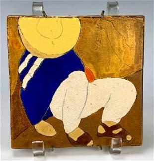 "San Jose Pottery Tile ""Sleeping Man"""