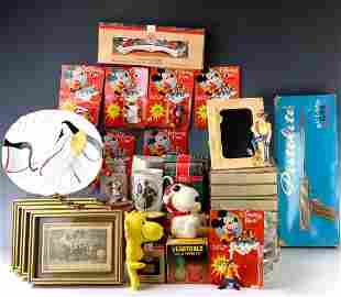 Group of Disney Items, Snoopy, Etc.