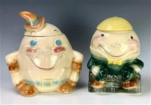 "2 Brush McCoy ""Humpty Dumpty"" Cookie Jars"