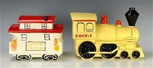 2 McCoy Cookie Jars Caboose & Engine