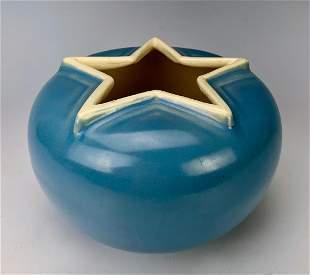 Weller Signed Star Pottery Vase