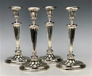 Elkington & Co. Sterling Candlesticks, Set of 4