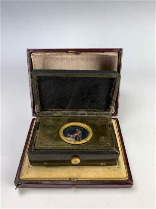 Rare Erotic Automaton Music Box w/ Original Case