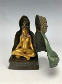 "Franz Bergman ""Buddha"" Erotic Bronze C. 1880"
