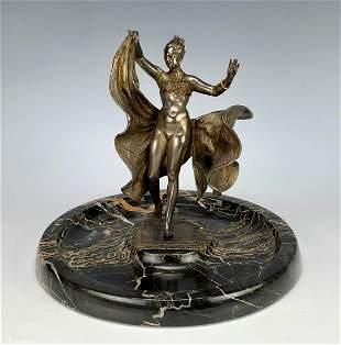Bergman Loie Fuller Style Erotic Mechanical Bronze