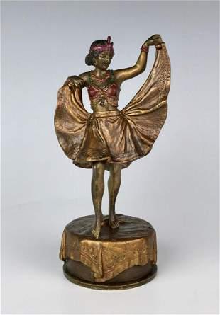 Bergman Erotica Bronze Girl with Hinged Skirt