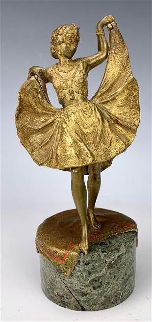 "Bergman Erotic ""Dancing Girl"" Mechanical Bronze"