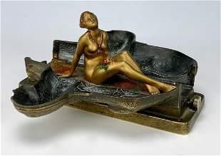 Attr: Bergman Erotic Sphinx Mechanical Bronze