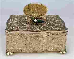 German Sterling Silver Singing Bird Box