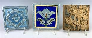 Group of 3 Tiles Including Batchelder and A&E