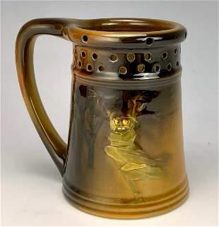 Rookwood, Harriet E. Wilcox Goblin Puzzle Mug C.1895