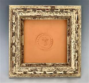 """Pablo Picasso """"Circle w/ Face Clay"""" Tile 1971"""