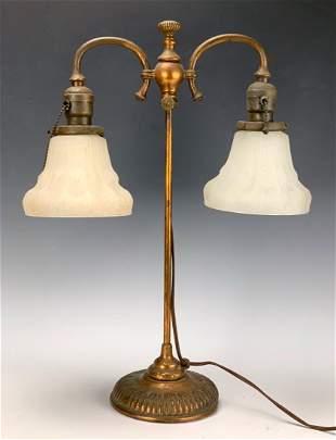 Tiffany Studios Lamp w/ Rare Opalescent Shades