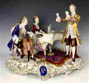 Large German Voldstedt Porcelain Figural Group