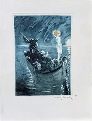 Rare Louis Icart(Fr.1888-1950)Les Amours de Psyche
