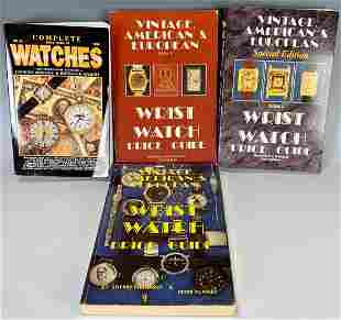 Group of 4 Pocket & Wristwatch Price Guides 1990s