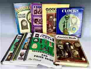 Group of Antique Clock Reference Books