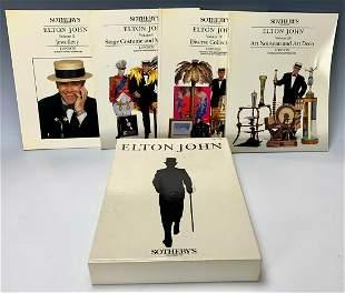 Elton John, Four Volume Sotheby's Catalog