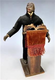 "Black Americana ""Preacher"" Folk Art Doll"