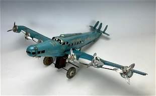 Rare Jostra Large 6 Engine Toy Clockwork Plane