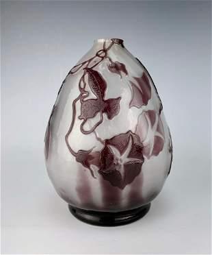 Emile Galle (Fr.1880-1960) Fine Fire Polished Vase