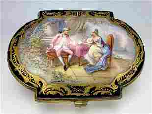 Beautiful Hand Painted Sevres Box C. 1900