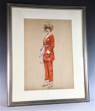 Maurice Milliere Sgd. Original Watercolor Painting