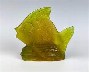 A. Walter Pate-de-Verre Angel Fish