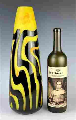 Signed Degue Art Deco Cameo Vase