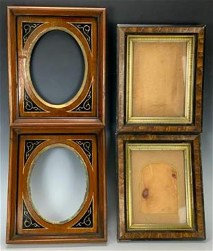 Two Pairs Victorian Walnut Frames C.1880