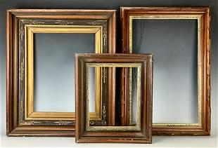 Three Walnut Victorian Frames C.1880