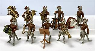 10pc. Vienna Bronze Cat Bellhop Mini Band