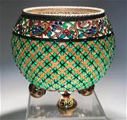 Russian Plique A Jour Vase Late 19th Century