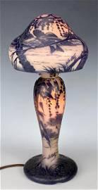 DeVez Scenic Cameo Glass Lamp C.1900