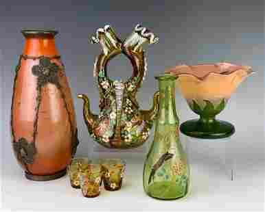 French Enamel Art Glass Including Muller Croismare