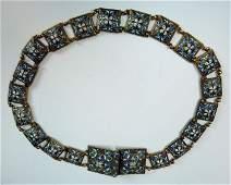 Russian Gilt Silver  Enamel Ladies Belt