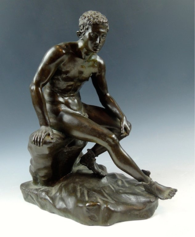 Continental Patinated Bronze Figure of a Mercury