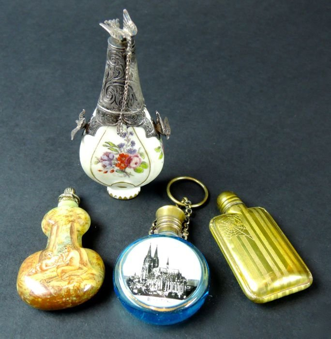 Group of Four Antique Perfume Bottles