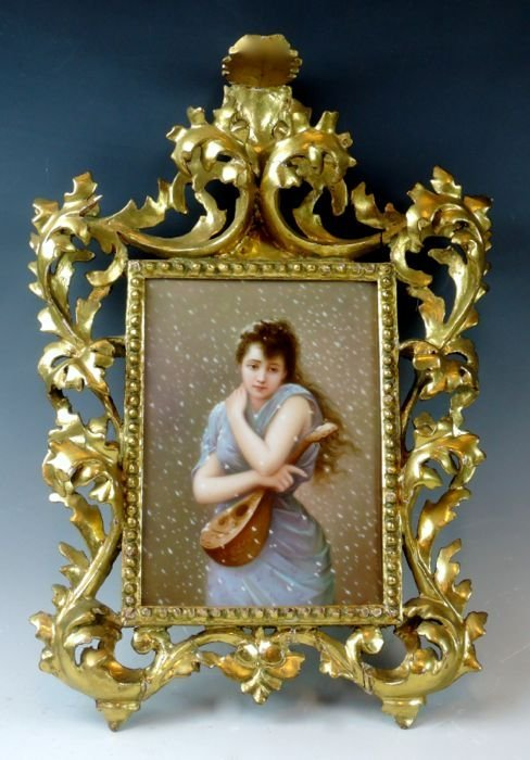Berlin (KPM) Porcelain Plaque Artist Signed