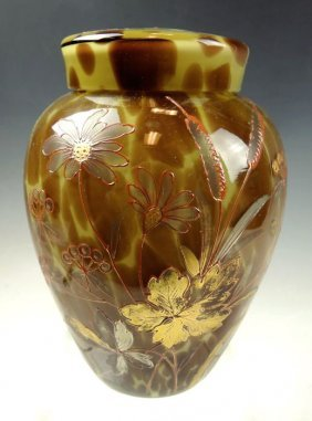 Loetz Art Glass Covered Jar