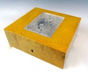 Rare Lalique France Jewel Box W Nude